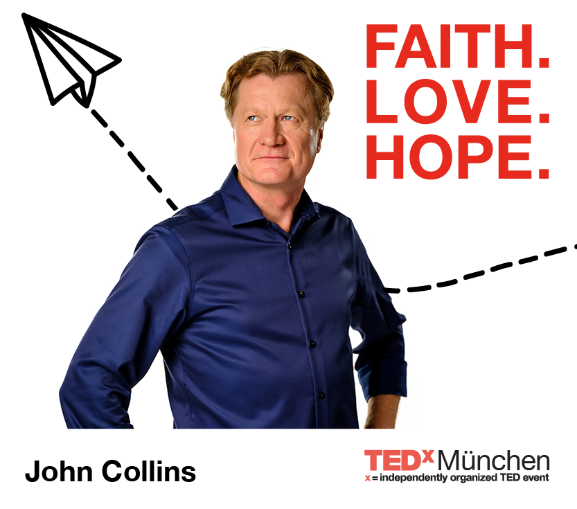 John Collins the Paper Airplan Guy speaker at TEDx Munich 2018