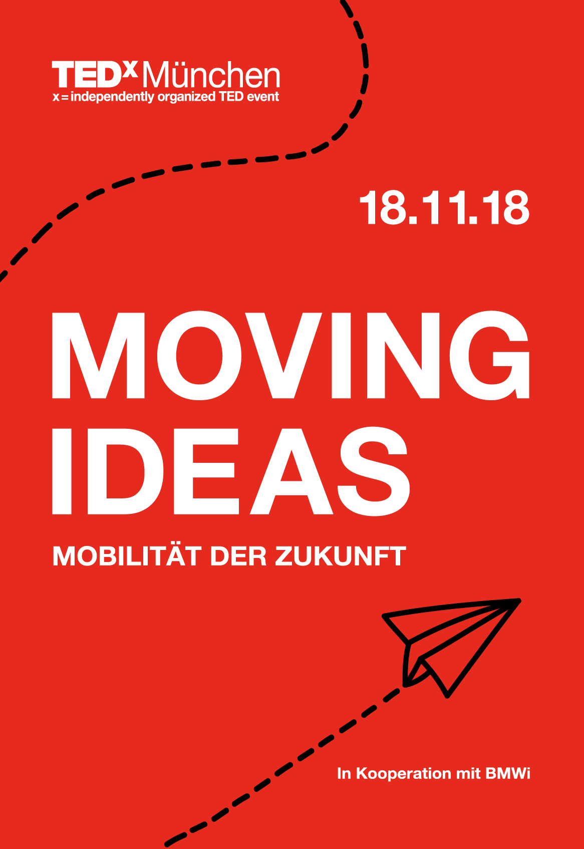 Poster for an event within TEDx Munich 2018